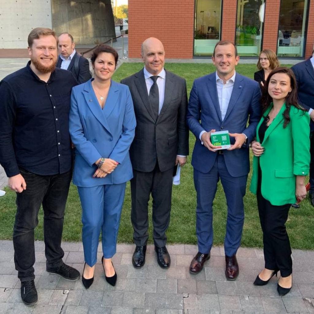 З міністром захисту довкілля Романом Абрамовським та єврокомісаром з питань довкілля Virginijus Sinkevičius